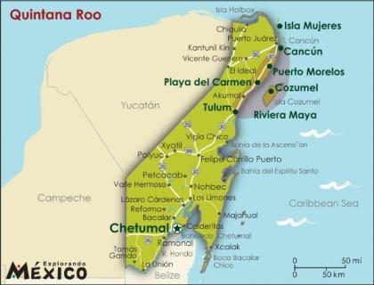 Mexiko Karte Cancun.Tv Stations Of Mexico Quintana Roo